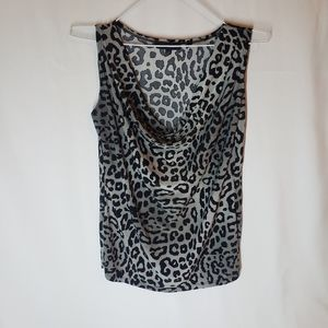 3/$20 Candy couture cowl neck tank animal print